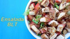Ensalada BLT: Trocinitos de Coco, Lechuga, y Tomate <3