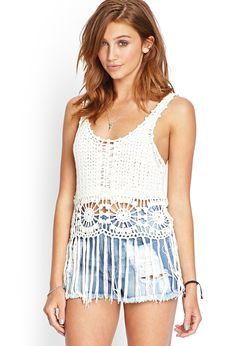 Fringed Open-Knit Tank | FOREVER21 #SummerForever