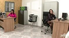 Two mind-blowing lesbos gets nasty and finger tart's in an office