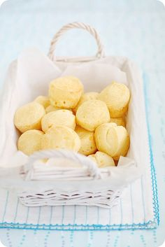Pão de Queijo  (Brazilian cheese buns)  I must make these! @Amanda Daugherty I think these are like the ones at Calle Ocho!