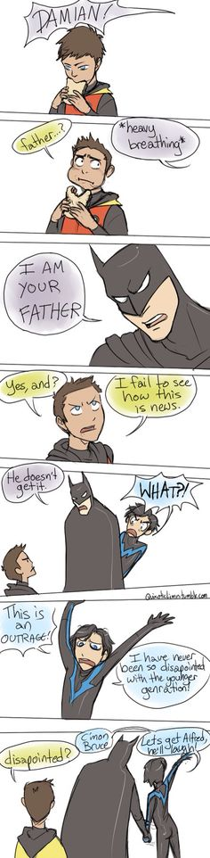 Poor Damian... He just wants to eat his sandwich
