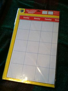 Blank Monthly Wall Calendars 2 SET FOR Teachers Daycares Homeschoolers   eBay