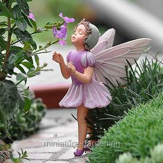 Miniature Fairy Garden Lilac Fairy | eBay