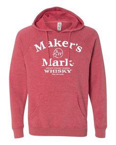 Maker's Mark Arch Logo Hoodie - Pomegranate