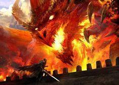 Dragões, demônios e outros gigantescos monstros na arte conceitual de mundos de fantasia de Kekai Kotaki (parte 2)