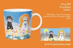 Moomin mug # 88 Moomin Mugs, Tove Jansson, New Friendship, Finland, Coffee Cups, Tea Pots, Original Artwork, History, Tableware