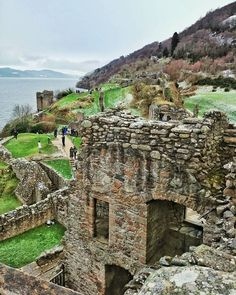 At the Urquhart Castle, overlooking the Loch Ness in Scotland.