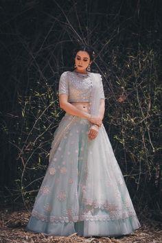 Apr 2020 - NEw Designer Bridal lehenga Choli Buy Online - Source by - Indian Wedding Gowns, Indian Bridal Outfits, Indian Gowns Dresses, Indian Designer Outfits, Lehenga Wedding, Designer Bridal Lehenga, Bridal Lehenga Choli, Indian Lehenga, Blue Lehenga