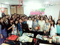 #InteriorDesigning Students of #IWP Janakpuri, attending creative workshop conducted by #Fevicryl  #InternationalWomenPolytechnic