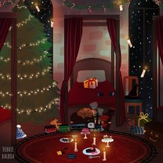 Hogwarts Houses rooms in the Holidays seasonヾ☆*。