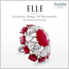 #Fashion #magazine, ELLE India features the #jewellery of Hazoorilal By Sandeep Narang in its monthly publication.