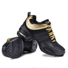 2016 de la Aptitud Transpirable Maestros Salsa Latin Jazz Danza Moderna Zapatos de Baile de Las Mujeres Zapatillas de Deporte de Las Señoras Zapatos de Aeróbic Danza