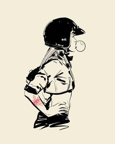 Ideas Girl Motorcycle Art For 2019 Motorcycle Memes, Motorcycle Art, Motorcycle Design, Bike Art, Drawing Sketches, Drawings, Bike Drawing, Character Art, Character Design