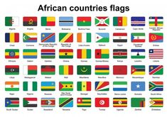 African countries flag buttons vector image on VectorStock Flags Of European Countries, All African Countries, Countries And Flags, Countries Of The World, Country Flags Icons, World Country Flags, Iptv Sports, All World Flags, Tanzania