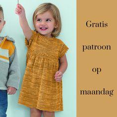 Gratis patroon op maandag - Breipatroon jurkje. Ontvang ieder maandag het gratis patroon en een leuke aanbieding van het garen.