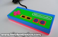 Neon NES controller! By 8bitAesthetics! Message us at www.8bitaesthetics.com to place your custom order!