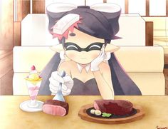 Post with 210 views. Callie attempts to share meat with you Splatoon 2 Game, Nintendo Splatoon, Splatoon Comics, Head Gloves, Callie And Marie, Spiderman Art, Closed Eyes, Manga Pictures, Best Games