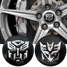 Transformer Decepticons Resin Refletive Decal Sticker Universal Car Sticker Gold
