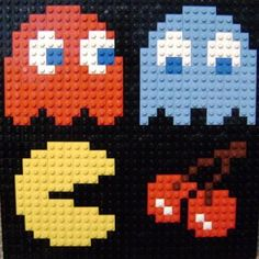 Pacman Lego Mosaic — A video game inspired craft weblogLego 8 bit