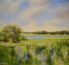 Band of Brushes - Work Zoom: Essex Marsh in Summer by Dorothy Aham