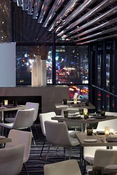 Staying our first three days here! <3 Grand Hyatt New York: New York Central Restaurant with views of 42nd Street