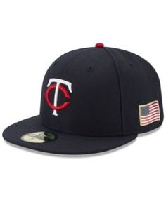 New Era Minnesota Twins Authentic Collection 9-11 Patch 59FIFTY Fitted Cap - Blue 7 5/8