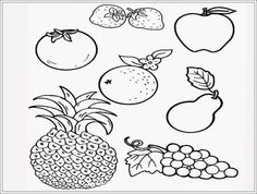 Sketsa Gambar Buah Untuk Diwarnai Mewarnai Pinterest Education