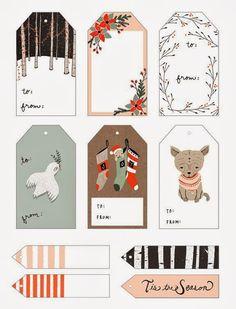 Naifandtastic:Decoración, craft, hecho a mano, restauracion muebles, casas pequeñas, boda: Tarjetas imprimibles para los paquetitos de Navidad