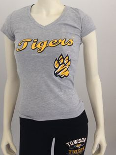 Tigers Paw V Neck Black and Heather Gray $20.99 at 208 York Rd.Towson, MD 21204