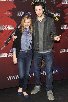 Chloe Moretz and Aaron Johnson in Berlin