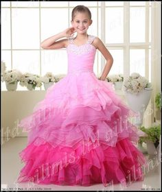 Hot Girl Kids Pageant Bridesmaid Dance Party Princess Ball Gown Formal Dresses | eBay