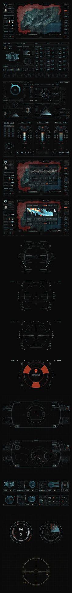 Categoria: 2 / Tags: gui, interface, movie, design / Descrição: Todos os elementos presentes na interface do filme Oblivion.: