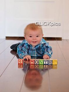 Baby boy photography, child photography, children photography, baby photography, 6 month baby photography.  CLiCKpics - Photography for your Life.  Visit and like the Facebook page and website.