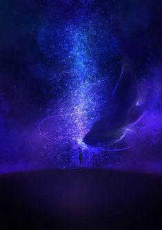 Galaxy Wallpaper, Wallpaper Backgrounds, Fantasy World, Fantasy Art, Space Artwork, Anime Galaxy, Universe Art, Anime Scenery, Fantasy Landscape