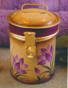 Crocus Tea Canister