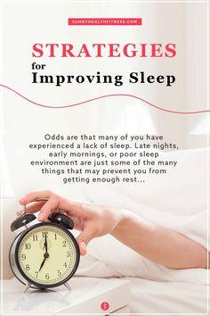 How can you increase the quality and quantity of your sleep? We've listed various strategies to help you increase the likelihood of achieving 7 hours of sleep per night. #sunnyhealthfitness #sleep #Improvesleep #bettersleep