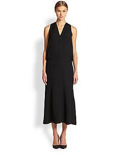 $620/$208 Helmut Lang Tissue Silk Dress