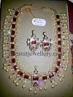 Jewellery Designs: Ruby Necklace 111 Grams