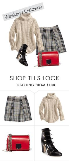"""""""WINTER WEEKEND GETAWAY"""" by whitewolf ❤ liked on Polyvore featuring Burberry and Jimmy Choo"""