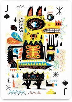 54 ilustradores de todo el mundo (varios mexicanos) se unen para formar una nueva baraja de cartas (han existido proyectos similares como52…