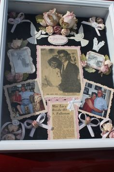 Wedding Anniversary Commemorative Shadowbox by JessicasKeepsakes, $140.00