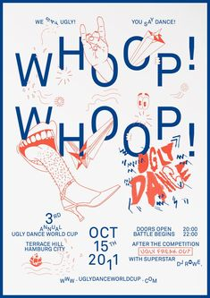 Poster for Ugly Dance World Cup #illustration #typography