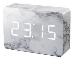 Réveil brique marbre - Gingko - Visuel 1