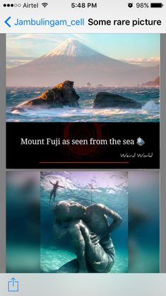 Mount Fuji, Rare Pictures, Weird World, Fun Facts, Sea, Movies, Movie Posters, Fuji Mountain, Films