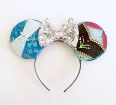 Frozen inspired Mickey Ears Frozen Disney by ToNeverNeverland