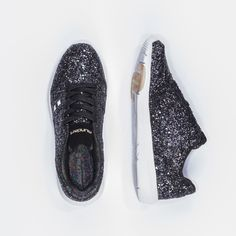 MUNDA:RT Las Vegas Glitter Black Sneakers