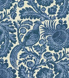 Love that this fabric can go either formal or bohemian casual depending on the cut, trimmings, or surrounding decor.