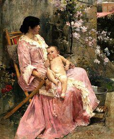 La joven madre (1889) Arturo Michelena (Venezuela, 1863-1898)