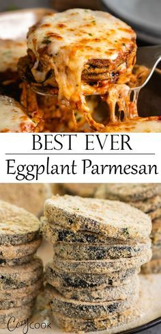 This is the BEST Eggplant Parmesan recipe you can hope to find! The steps are clearly outlined, making this very easy to bake or fry! You can even make this ahead of time! Healthy Recipes, Vegetable Recipes, Vegetarian Recipes, Cooking Recipes, Freezer Recipes, Freezer Meals, Drink Recipes, Jar Recipes, Freezer Cooking