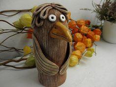pták Pottery Ideas, Students, Birds, Animals, Garden Art, Clay, Figurine, Animales, Animaux